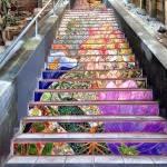 Мозайка на лестницах