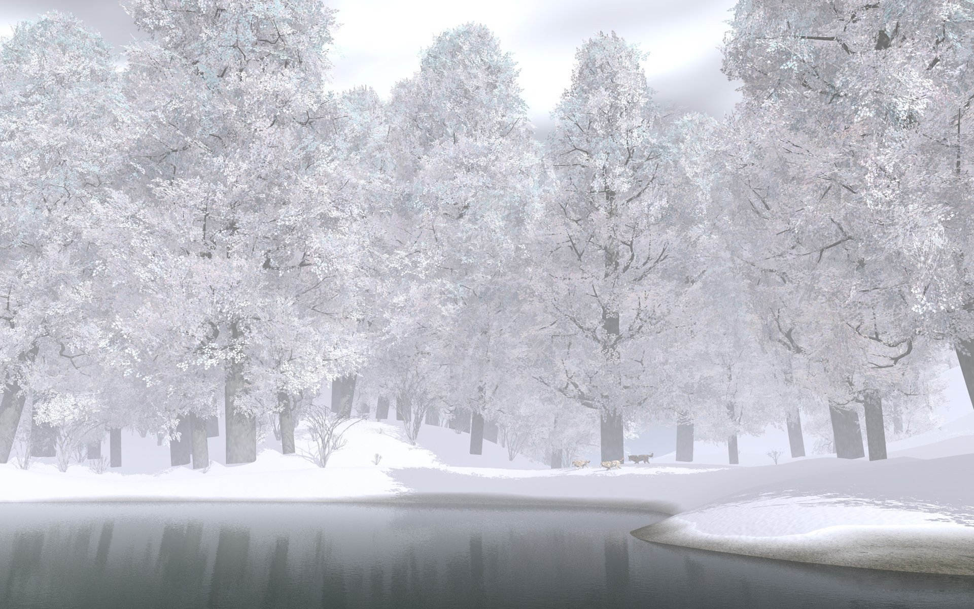 winter_snow_lake_wolves_trees_forest_hd-wallpaper-332409