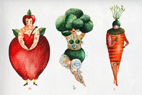The Girlyveggiefruit Alphabet