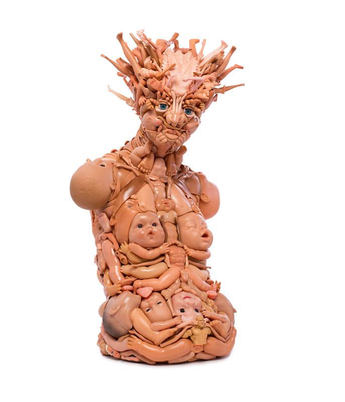 Freya Jobbins Скульптуры из кукол