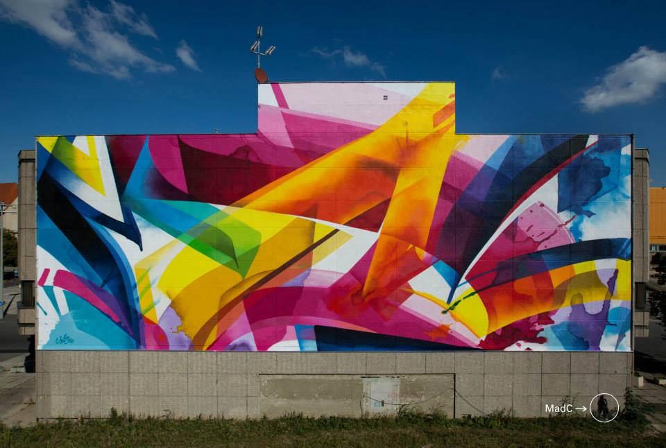 Гигантское граффити от MADC