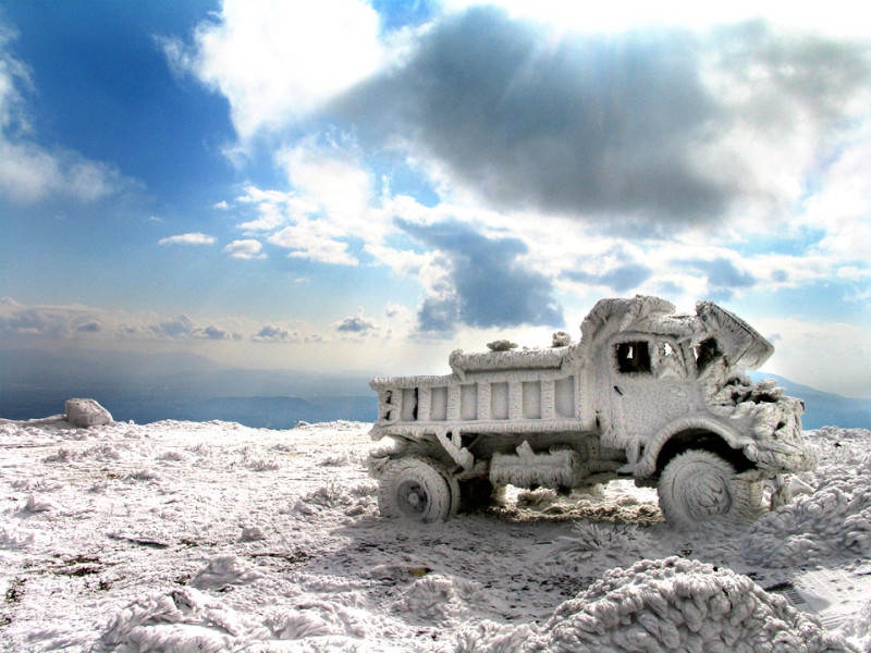 frozen-truck