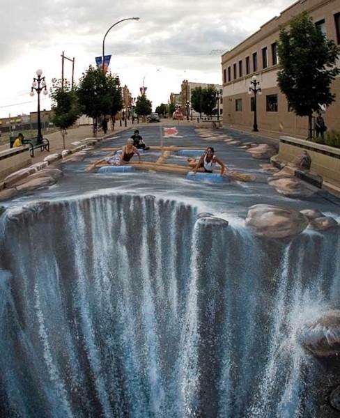 3D рисунки на улице 3