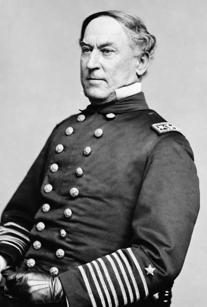 История в фотографиях Фотография Дэвида Глазго Фаррагута, 1855 – 1860 года