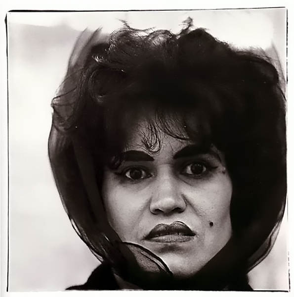 Puerto Rican woman with beauty mark, New York, 1965