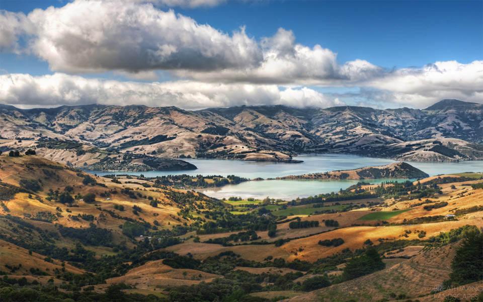 Фантастический пейзаж Новая Зеландия
