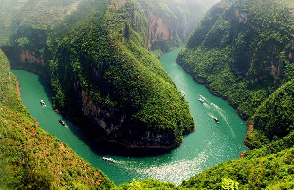 Река Янцзы Фотографии Китая
