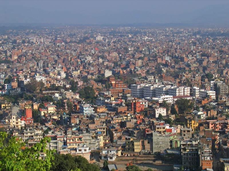 Панорамный вид на Катманду
