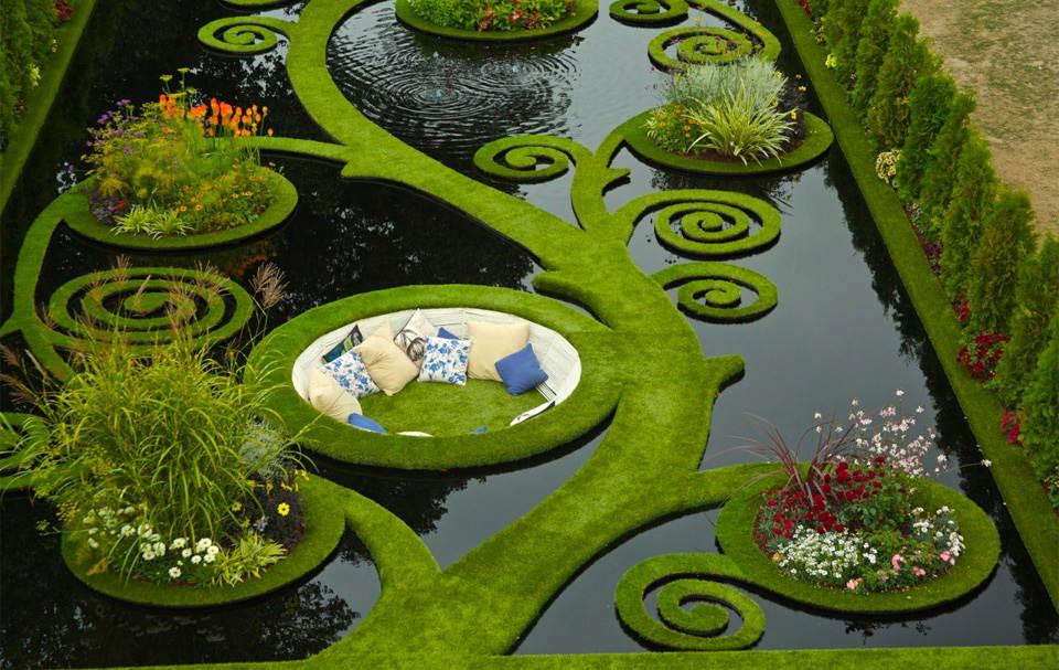 летний сад Новая Зеландия