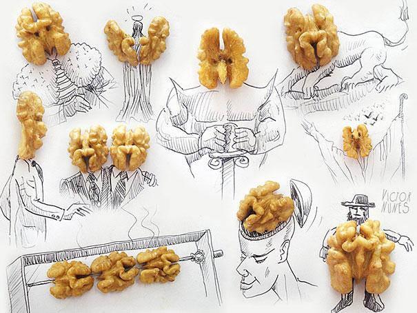 орехи на картинке