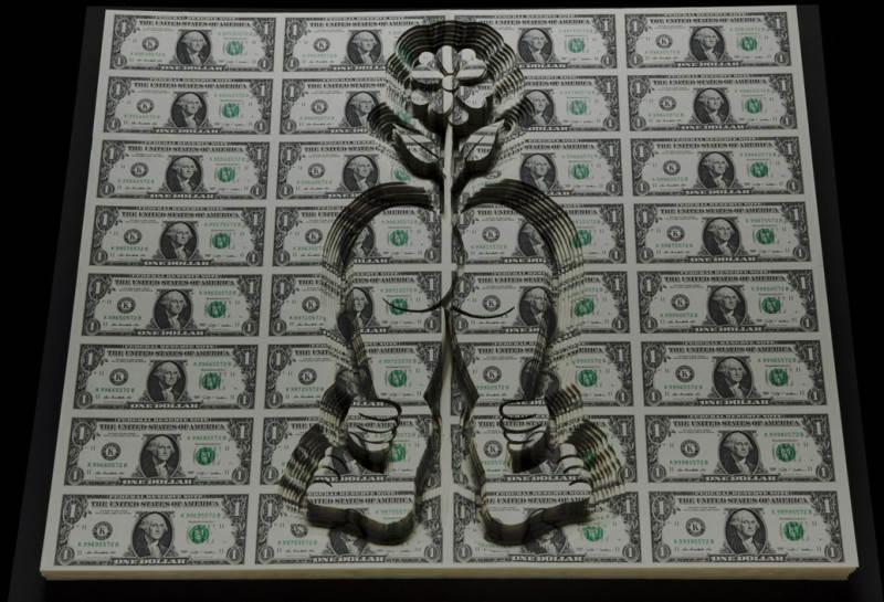 Долларовые скульптуры Скотта Кэмпбелла Scott Campbell 2
