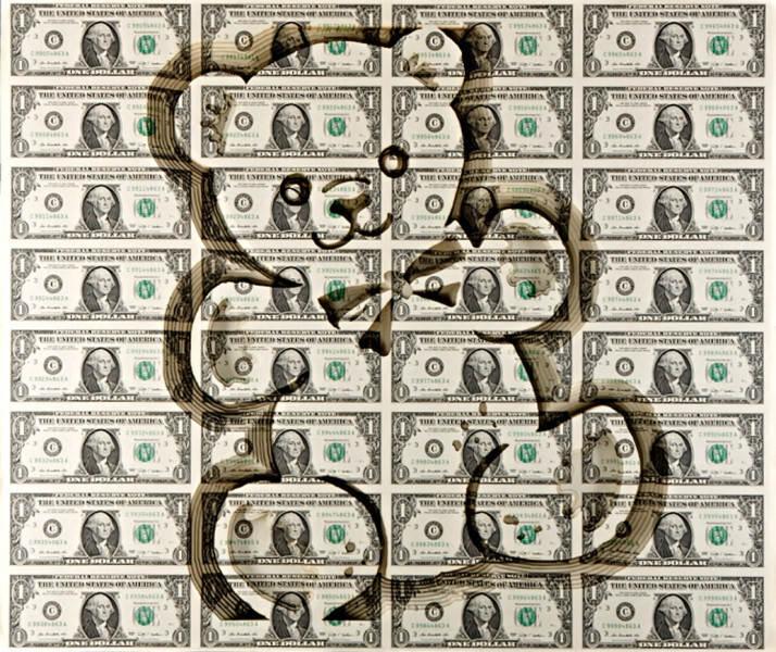 Долларовые скульптуры Скотта Кэмпбелла Scott Campbell 3