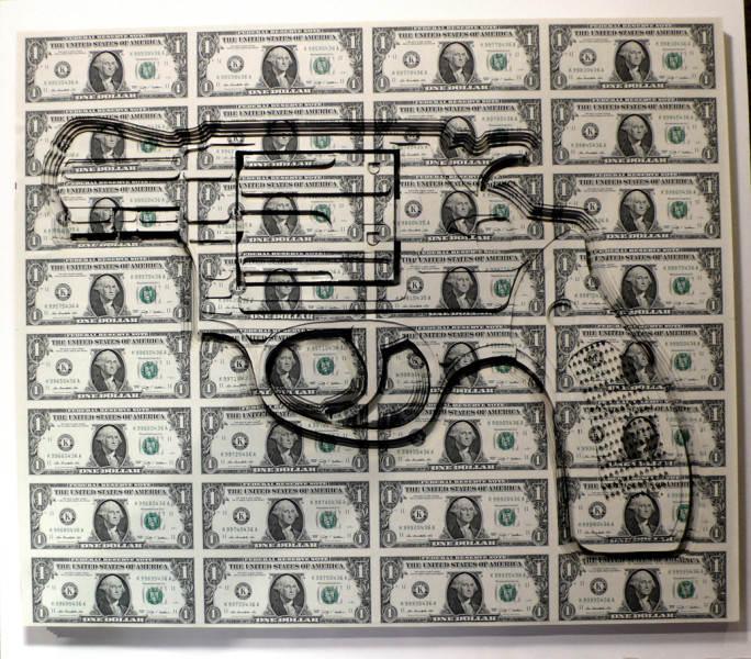 Долларовые скульптуры Скотта Кэмпбелла Scott Campbell 4