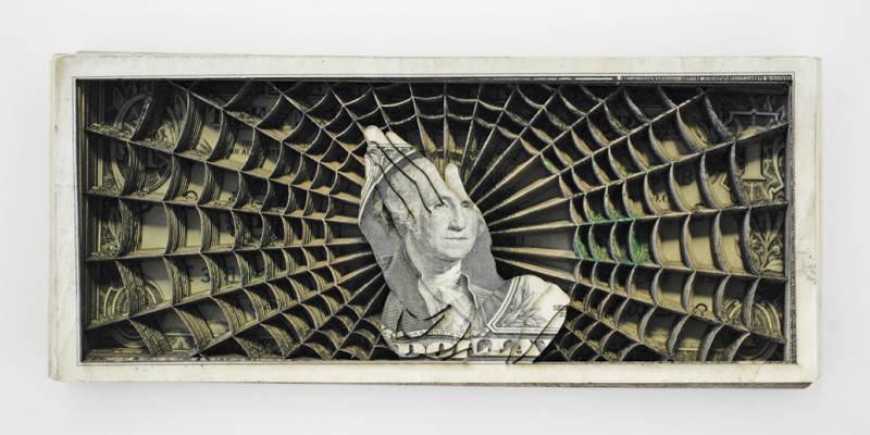 Долларовые скульптуры Скотта Кэмпбелла Scott Campbell 5
