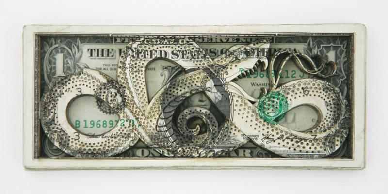 Долларовые скульптуры Скотта Кэмпбелла Scott Campbell 7