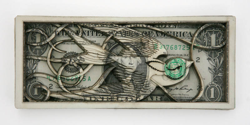 Долларовые скульптуры Скотта Кэмпбелла Scott Campbell 9
