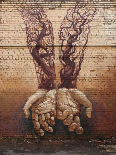 Киевский уличный художник Александр Гребенюк