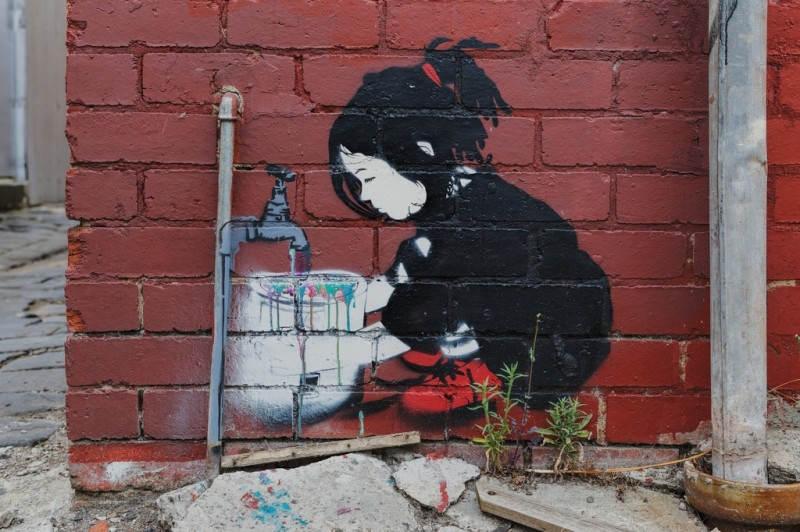 Уличное искусство в Мельбурне, Австралия. Автор:  Be Free. Фото: ajhaysom