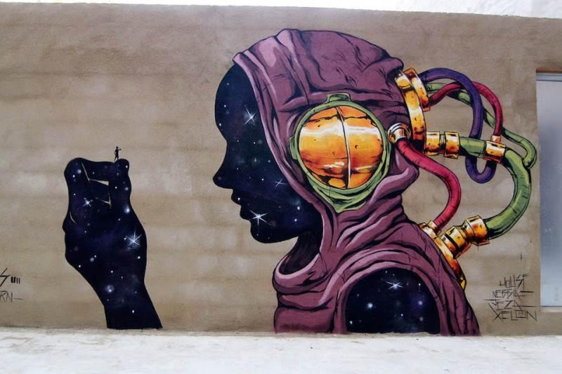 Уличное искусство в Валенсии, Испания. Художник Deih