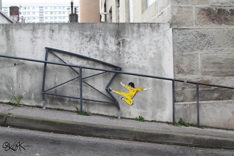 Уличное искусство в Сент-Этьен, Франция. Художник Oakoak