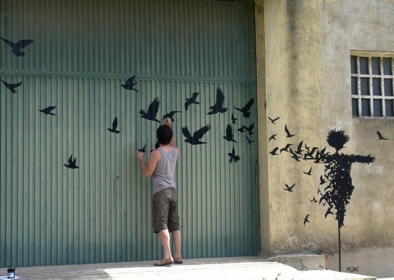 Стрит-арт в Испании, автор Pejac