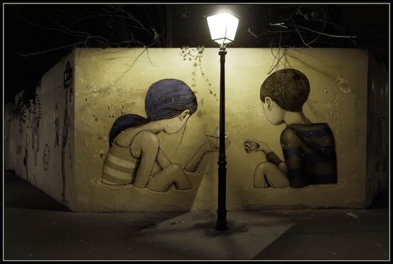 Уличная картина в Париже Seth