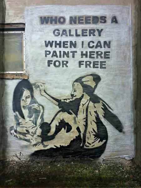 Уличное искусство в Великобритании – Да, я без ума от тебя. Автор Paul Speight