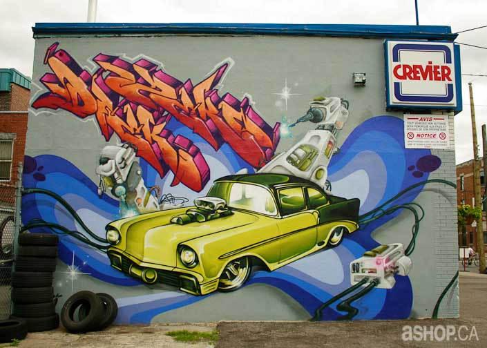 Уличные художники A'shop crew и их картины 3