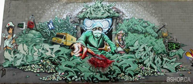 Уличные художники A'shop crew и их картины