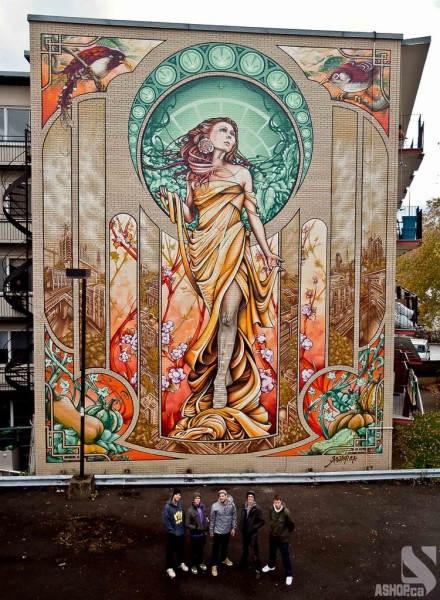 Уличные художники A'shop crew и их картины _