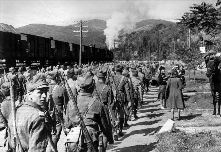Фотография аннексии Бессарабии Румынией – 1918 год