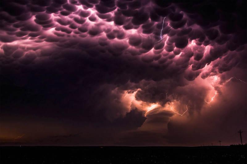 пурпурные облака