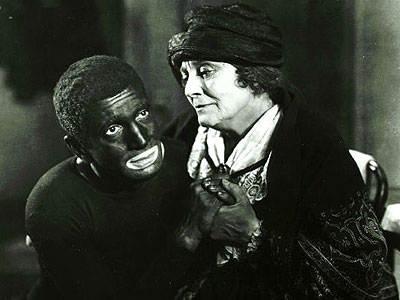 Фотография кадра первого звукового кино «Певец джаза», 1927 год