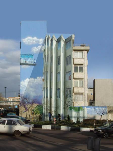 Иранский художник Mehdi Ghadyanloo и его уличные картины