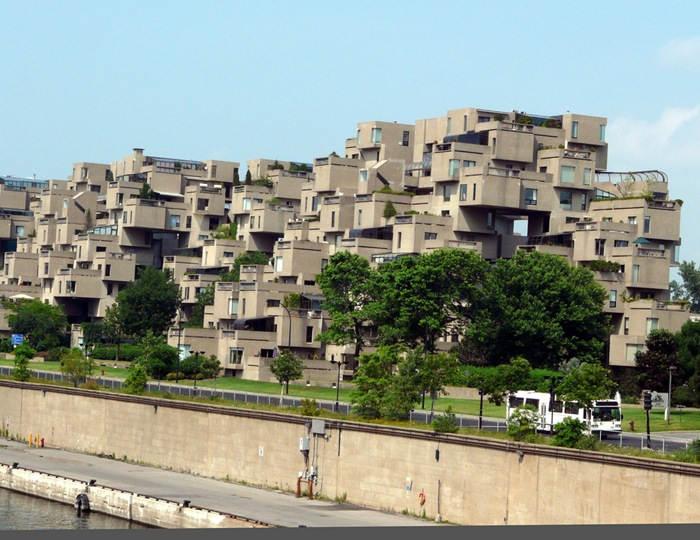 Креативный жилой комплекс в Канаде, разработан архитектором Moshe Safdie с целью экономии пространства