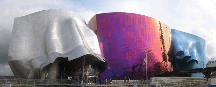 Музей истории музыки в Вашингтоне, США. Необычное строение построено в 2000 году архитектором Frank Gehry
