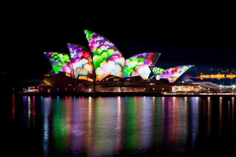 Световое шоу в Сиднее от Vivid Sydney
