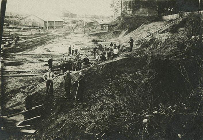 Фотография пленников ГУЛАГа, 1936