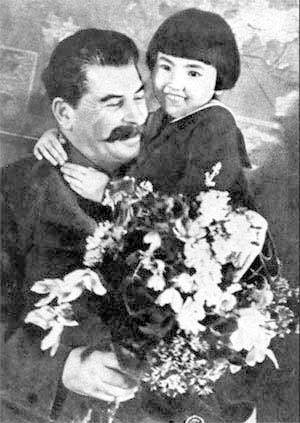 Фотография Михаила Калашникова, Иосиф Сталин с Гелей Маркизовой, 1936