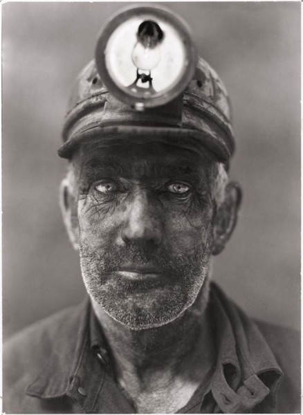 Фотография Энтони Стюарта, портрет шахтера города Омар, Западная Виргиния, США, 1938 год