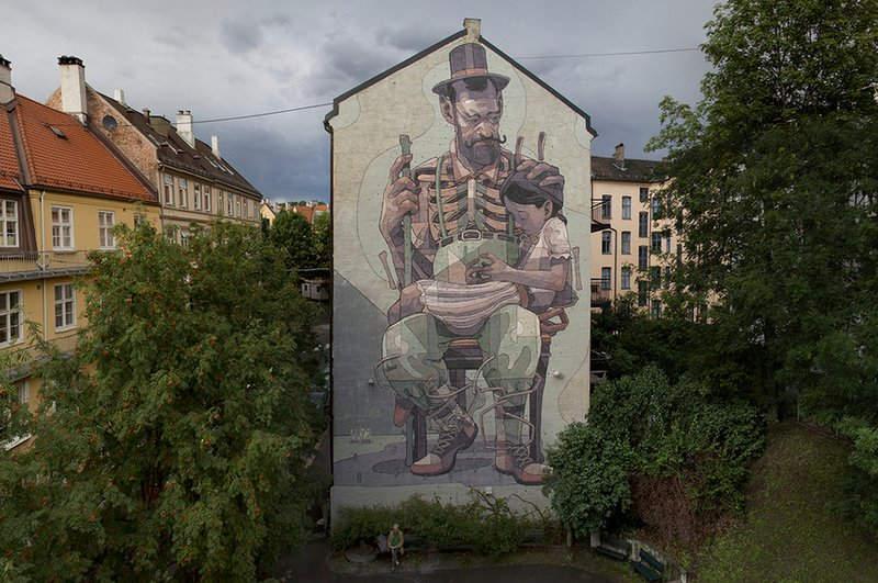 Испанский уличный художник Aryz и его картины