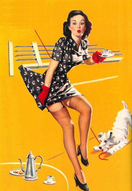 Классические плакаты Пин Ап времен Второй Мировой Войны 3