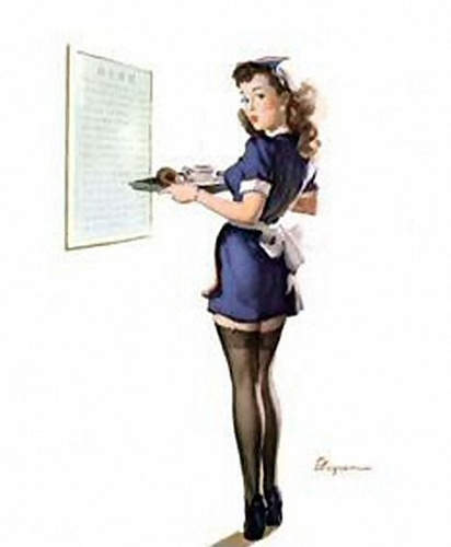 Классические плакаты Пин Ап времен Второй Мировой Войны 8