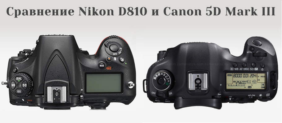Сравнение Nikon D810 и Canon 5D Mark III 2