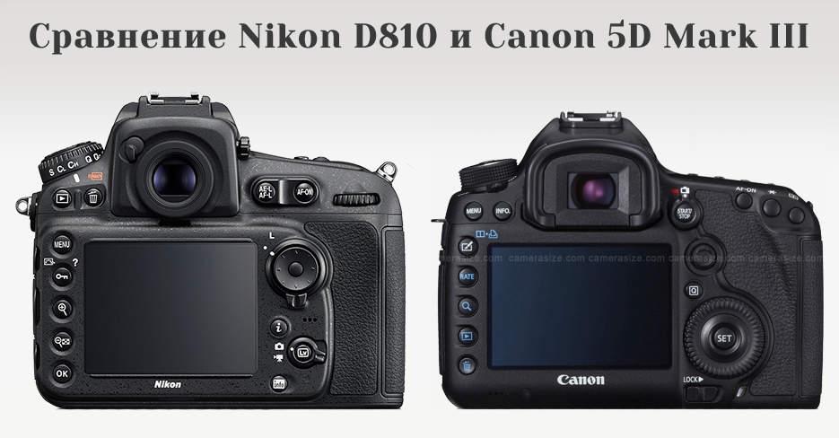 Сравнение Nikon D810 и Canon 5D Mark III 3