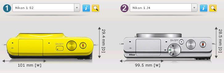 Сравнение беззеркальных фотоаппаратов Nikon 1 S2 и Nikon 1 J4 2