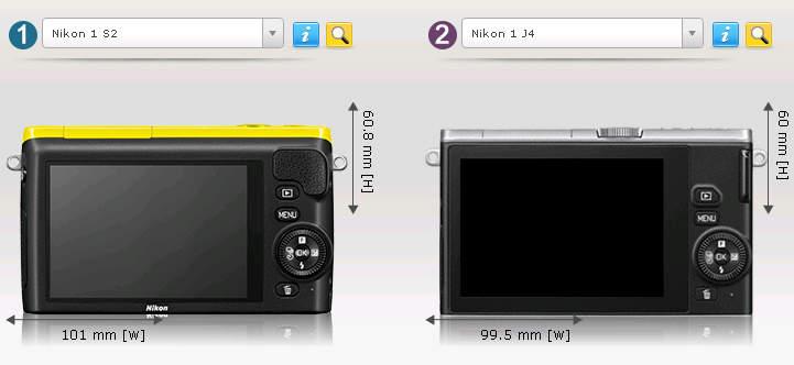 Сравнение беззеркальных фотоаппаратов Nikon 1 S2 и Nikon 1 J4 3