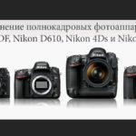 Сравнение полнокадровых фотоаппаратов Nikon DF, Nikon D610, Nikon 4Ds и Nikon D810