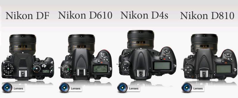 Сравнение полнокадровых фотоаппаратов Nikon DF, Nikon D610, Nikon 4Ds и Nikon D810 2