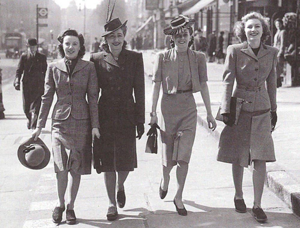 История в фотографиях (1940 - 1941) Фотография модниц начала 40-х годов